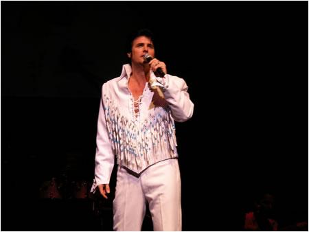 Chris MacDonald in the 1970's Elvis in Concert White Fringe look